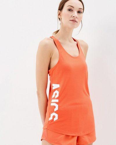 Оранжевая майка спортивная Asics