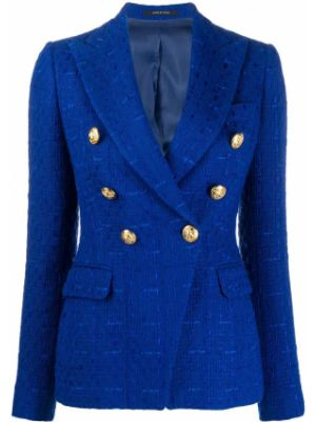 Пиджак с накладными карманами двубортный Tagliatore