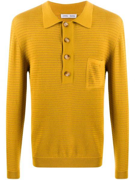 Классическая желтая классическая рубашка с воротником с манжетами Cmmn Swdn