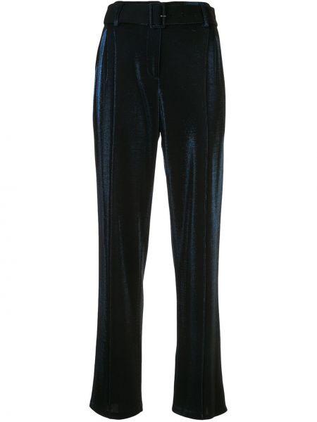Прямые брюки с защипами с воротником с поясом из вискозы Sally Lapointe
