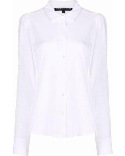 Хлопковая белая рубашка с длинными рукавами Veronica Beard
