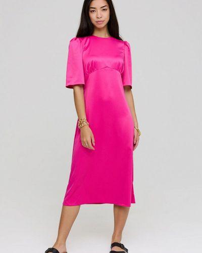 Розовое зимнее платье Cardo