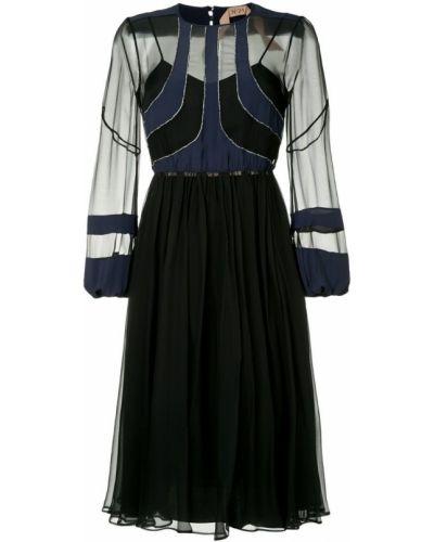 Платье миди на пуговицах на молнии N21