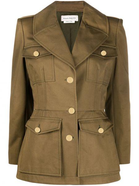 Пиджак милитари - зеленый Alexander Mcqueen