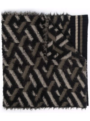 Szalik wełniany - czarny Versace