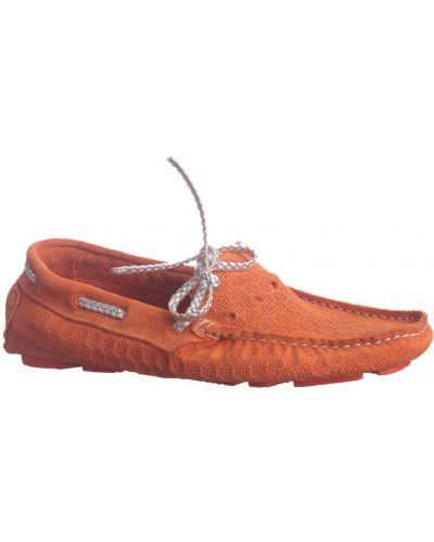 Мокасины замшевые оранжевый Baldinini