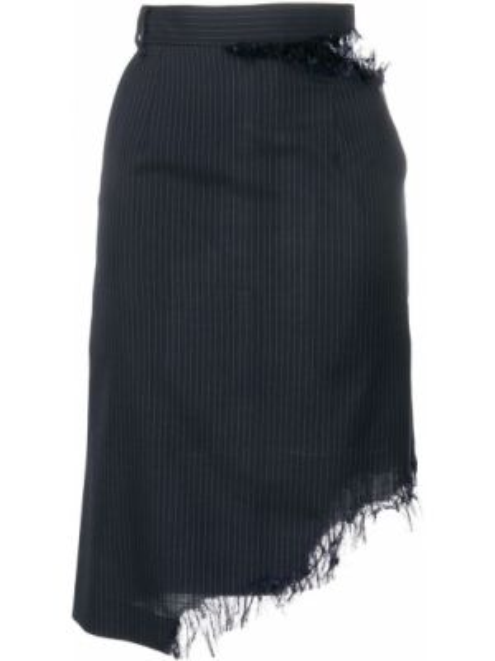 Шерстяная юбка макси - синяя Facetasm