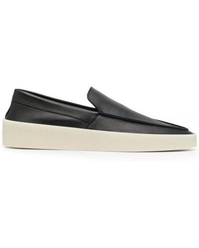 Czarne loafers skorzane Fear Of God