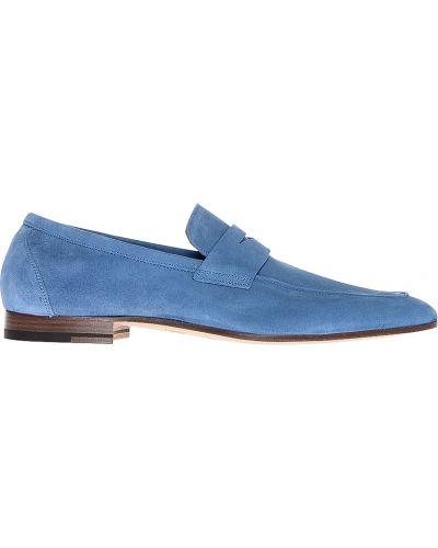 Кожаные лоферы - голубые Fratelli Rossetti