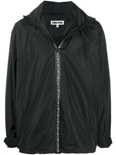 Czarna długa kurtka z długimi rękawami Mcq Alexander Mcqueen