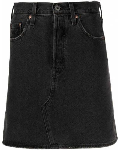 Хлопковая синяя джинсовая юбка с карманами Levi's®