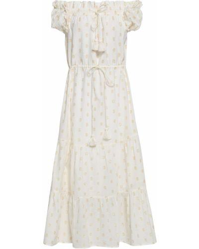 Biała sukienka midi bawełniana Figue