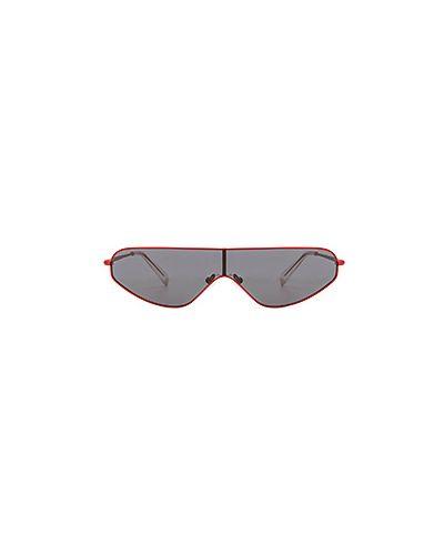 Солнцезащитные очки металлические красный Kendall + Kylie