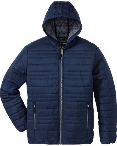 Стеганая куртка на молнии темно-синяя Bonprix