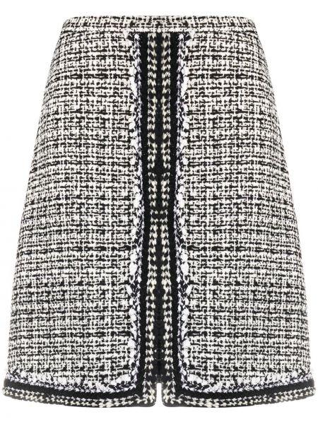 Шелковая черная прямая с завышенной талией юбка Giambattista Valli