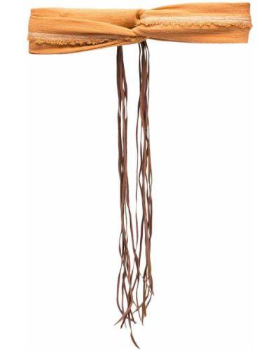 Bawełna skórzany turban z draperią Caravana