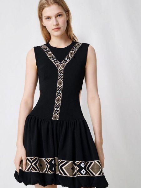 Повседневное платье черное весеннее Maje