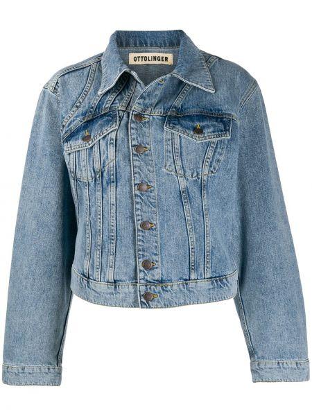 Классическая синяя джинсовая куртка с манжетами на пуговицах Ottolinger