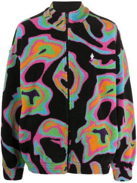 Bawełna bawełna długa kurtka z długimi rękawami z haftem Marcelo Burlon County Of Milan