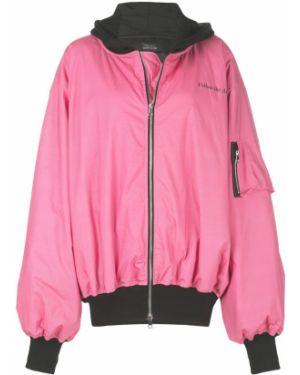Розовая куртка с капюшоном Barbara Bologna