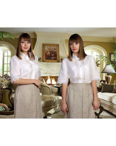 Блузка кружевная с вышивкой Грандсток