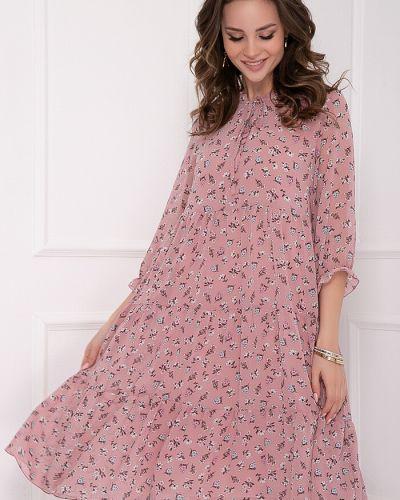 Платье свободного кроя с воротником с оборками с принтом Bellovera
