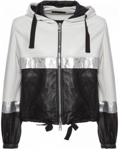 Комбинированная кожаная куртка Fabi