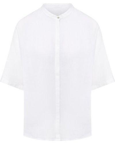 Льняная рубашка с коротким рукавом - белая 120% Lino