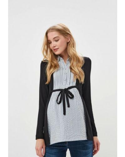 Блузка с длинным рукавом осенняя черная Budumamoy