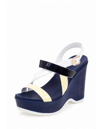 Синие босоножки на каблуке Roberto Netti
