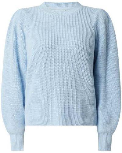 Prążkowany niebieski sweter bawełniany Moves
