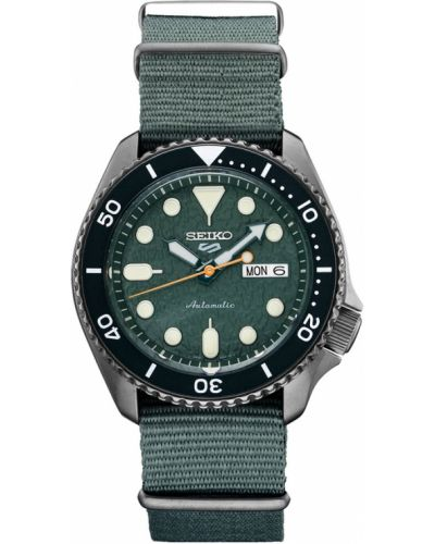 Zielony zegarek sportowy Seiko