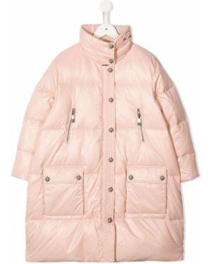 Pikowana płaszcz długi z kieszeniami John Richmond Junior