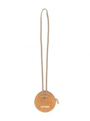 Желтая с ремешком кожаная маленькая сумка Jacquemus