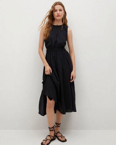 Черное платье осеннее Mango
