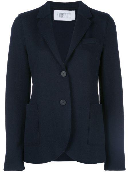 Приталенная классическая синяя куртка с лацканами Harris Wharf London