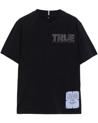 Czarna t-shirt bawełniana Mcq Alexander Mcqueen