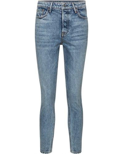 Ватные хлопковые синие зауженные джинсы-скинни Grlfrnd