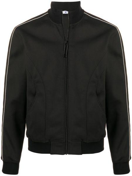 Bawełna czarny długa kurtka z kieszeniami z mankietami Off-white