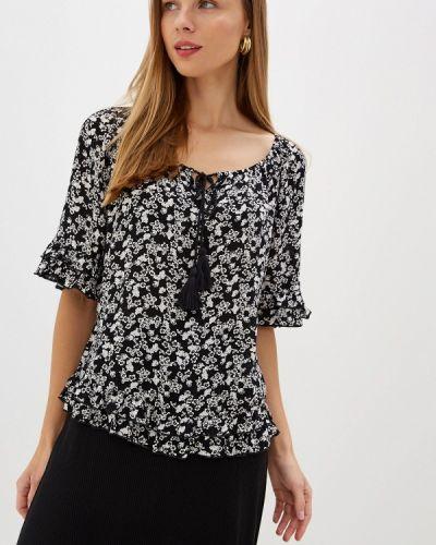 Блузка с коротким рукавом черная Dorothy Perkins