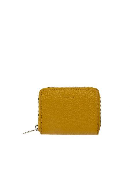 Żółty portfel skórzany Treats