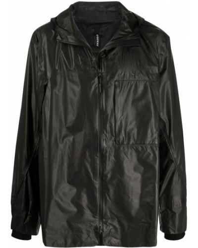 Klasyczny czarny płaszcz przeciwdeszczowy z długimi rękawami Byborre