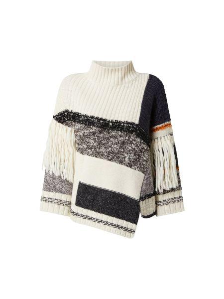 Sweter wełniany - biały Weekend Max Mara