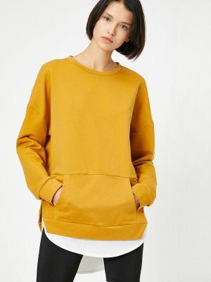 Tunika bawełniana - żółta Koton