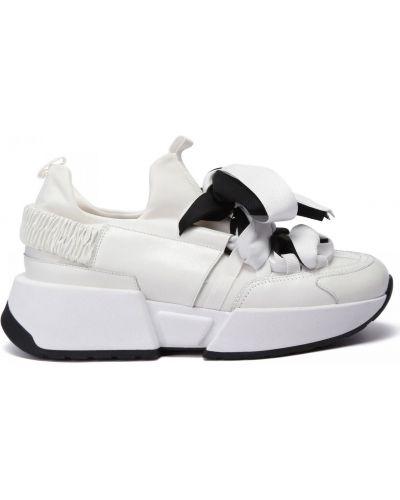 Белые кожаные кроссовки Doria Maria