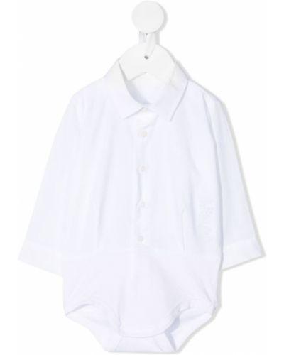 Белая классическая рубашка с длинными рукавами с воротником Il Gufo
