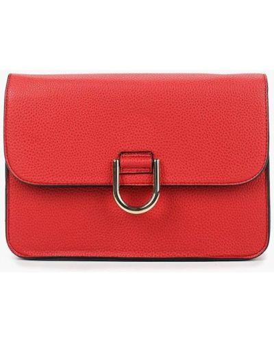 Кожаный сумка через плечо красная Dorothy Perkins