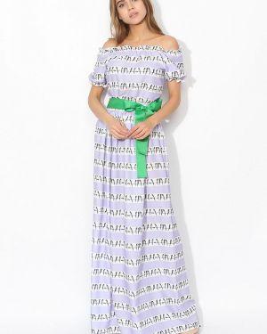 Платье с открытыми плечами фиолетовый Tutto Bene