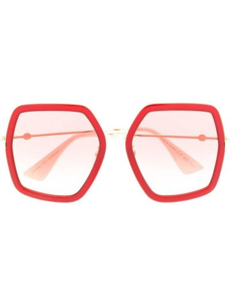 Różowa złota oprawka do okularów Gucci Eyewear