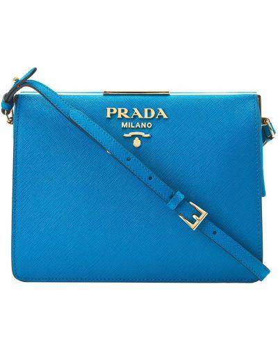 Кожаный сумка с пряжкой с логотипом Prada